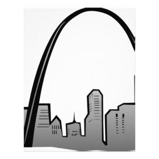 St Louis Skyline Drawing Letterhead