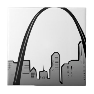 St Louis Skyline Drawing Tile