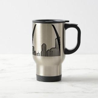 St Louis Skyline Drawing Travel Mug