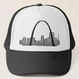 St Louis Skyline Drawing Trucker Hat