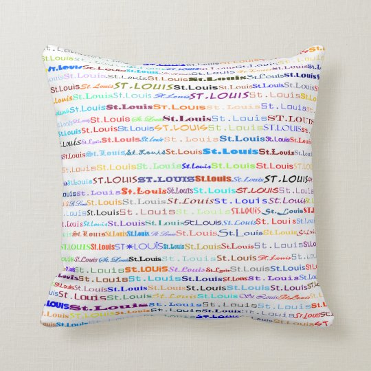 St. Louis Text Design II Throw Pillow