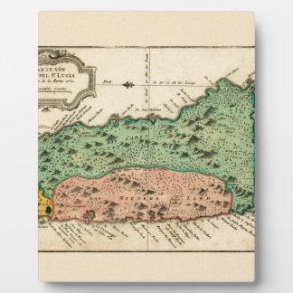 St Lucia 1758 Plaque
