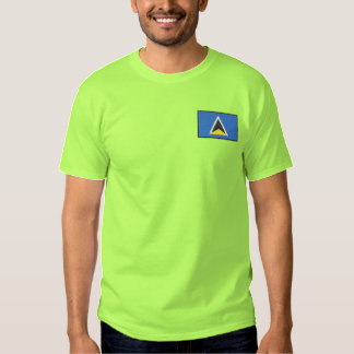 St. Lucia Embroidered T-Shirt