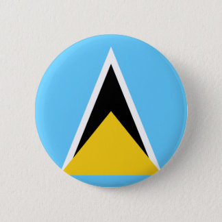 St Lucia Flag 2 Inch Round Button