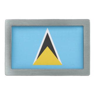 St. Lucia Flag Belt Buckle