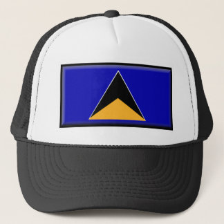 St. Lucia Flag Trucker Hat