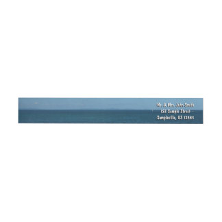 St. Lucia Horizon Blue Ocean Wrap Around Label