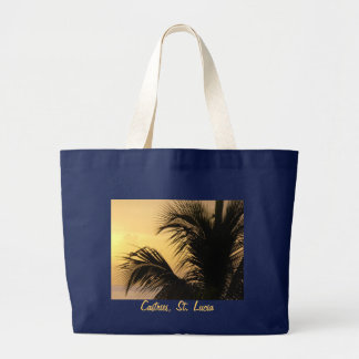St. Lucia Palm Tree Sunset tote bag