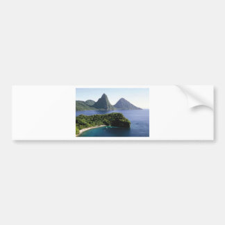 st_lucia_pitons_and_caribbean_sea bumper sticker