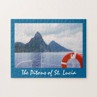 St. Lucia Pitons from the Sea Puzzle