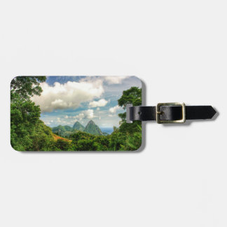 St. Lucia Pitons luggage tag