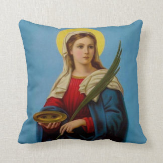 St. Lucy Patron Saint Eyes Psalm Throw Pillow