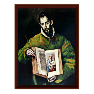 St. Luke As Painter By Greco El Postcard