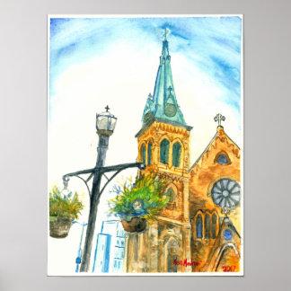 St, Luke Church In the sky Poster