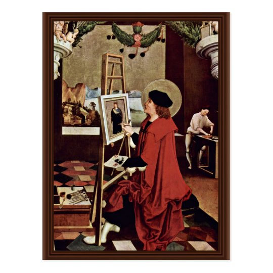 St. Luke Painting The Madonna Altar Wings Postcard