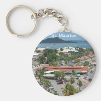 St. Maarten - Marigot Bay Basic Round Button Keychain