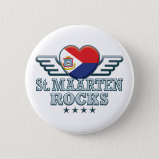 St. Maarten Rocks v2 2 Inch Round Button