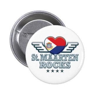 St. Maarten Rocks v2 2 Inch Round Button