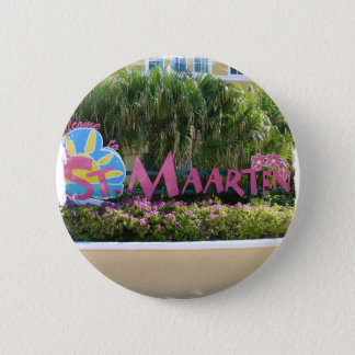 St. Maarten Sign 2 Inch Round Button