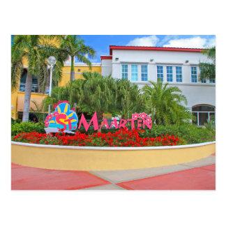 St. Maarten, Welcome sign, photography, Dutch Postcard