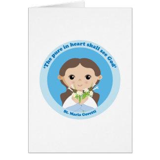 St. Maria Goretti Card