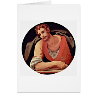 St. Mark By Agnolo Di Cosimo Card