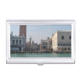 St. Mark's Square from the Grand Canal Business Card Holder