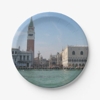 St. Mark's Square from the Grand Canal Paper Plate