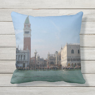 St. Mark's Square from the Grand Canal Throw Pillow