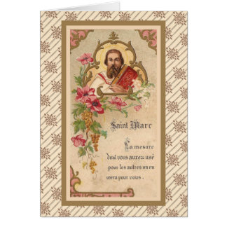 St. Mark the Evangelist French Antique Card