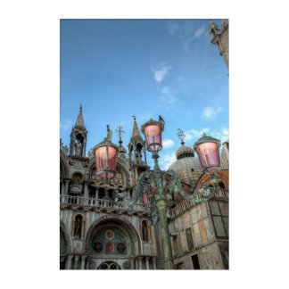 St. Marks and Lamp, Venice, Italy Acrylic Print