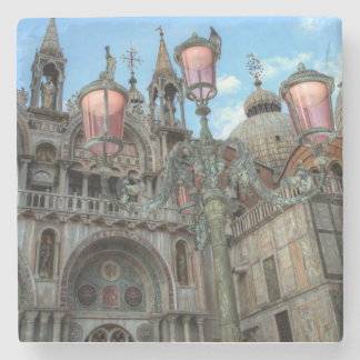 St. Marks and Lamp, Venice, Italy Stone Beverage Coaster