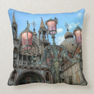 St. Marks and Lamp, Venice, Italy Throw Pillow