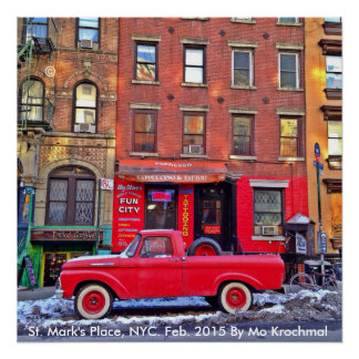 St. Mark's Place, NYC February 2015 Poster