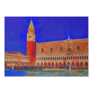 St Mark's Square Piazzetta painting Card