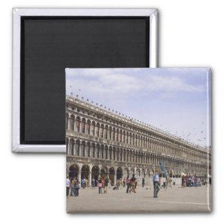 St. Mark's Square, Venice, Italy Square Magnet