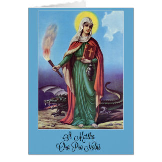 St. Martha Pray for Us Card