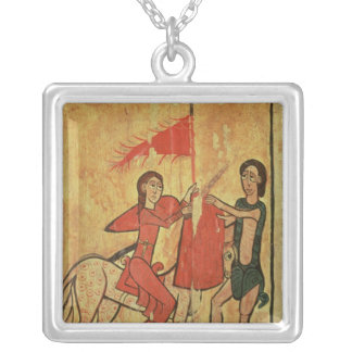 St. Martin and the Beggar Silver Plated Necklace