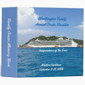 St. Martin Cruise Ship Persosnalized Vinyl Binder