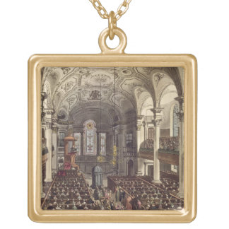 St Martins in the Fields, from 'Ackermann's Microc Gold Plated Necklace