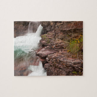 St Mary Falls in Glacier National Park in Jigsaw Puzzle
