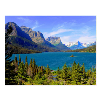 St. Mary Lake,  Glacier National Park,  Montana Postcard