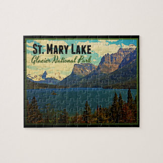 St. Mary Lake Glacier NP Puzzle
