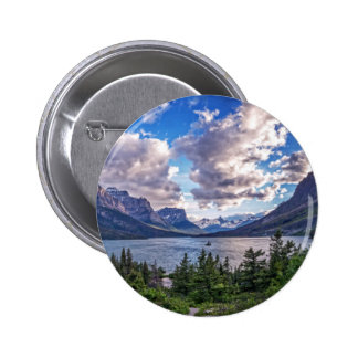 St. Mary Lake Sunset 2 Inch Round Button