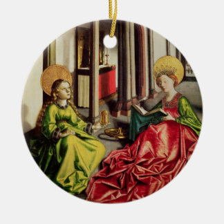 St. Mary Magdalene and St. Catherine of Alexandria Round Ceramic Ornament