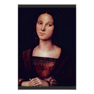 St. Mary Magdalene By Perugino Pietro Poster