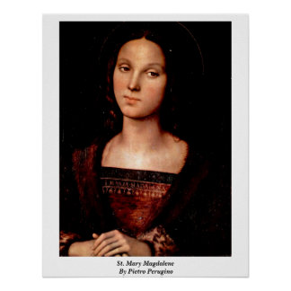 St. Mary Magdalene By Pietro Perugino Poster