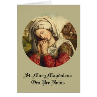 St. Mary Magdalene Feast Day July 22 Card