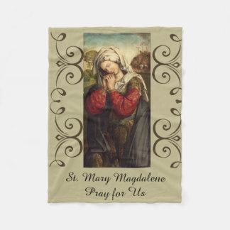 St. Mary Magdalene Feast Day July 22 Fleece Blanket