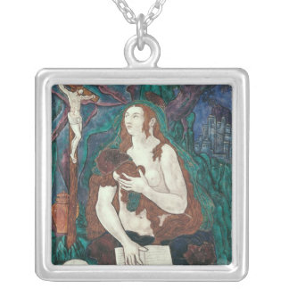 St. Mary Magdalene, Limousin Workshop Silver Plated Necklace